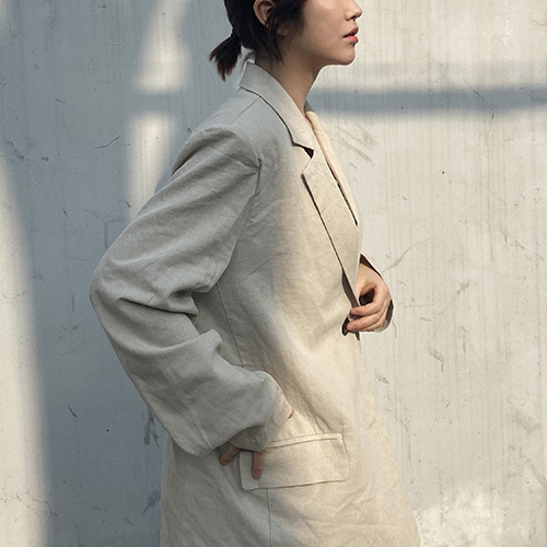TWO BUTTON LINEN JACKET